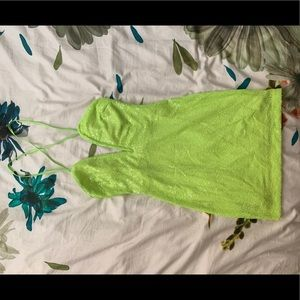 Nasty Gal Neon Green Sequence Dress
